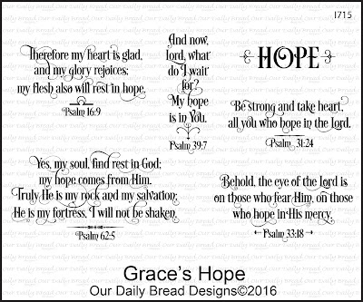 Our Daily Bread Designs Stamp Set - Grace's Hope