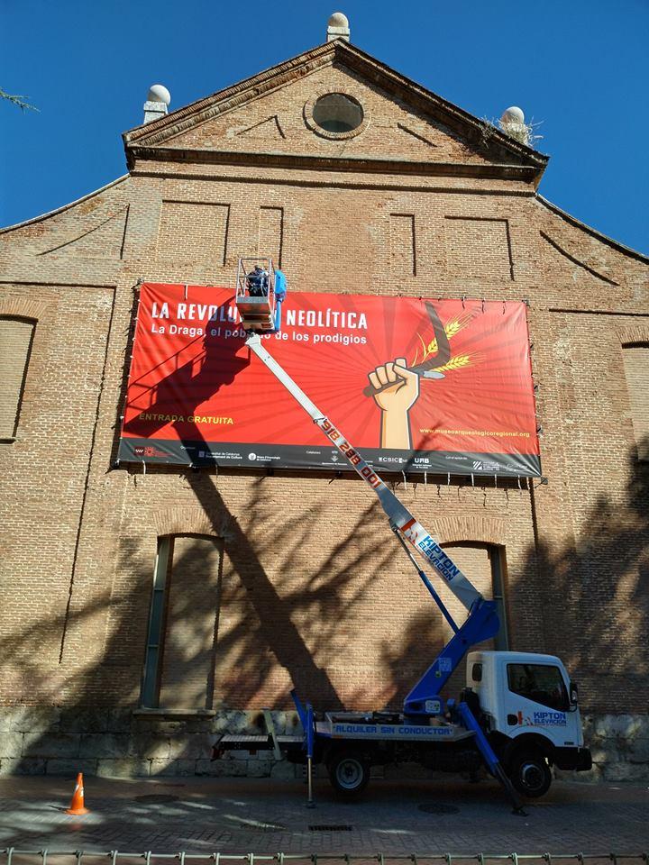 Exposición 'La revolución neolítica. La Draga, el poblado de los prodigios' en el Museo Arqueológico Regional de Madrid. Foto: La Draga en Facebook