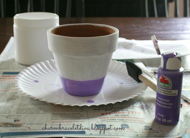 DIY Succulent Ombre Clay Pot tutorial