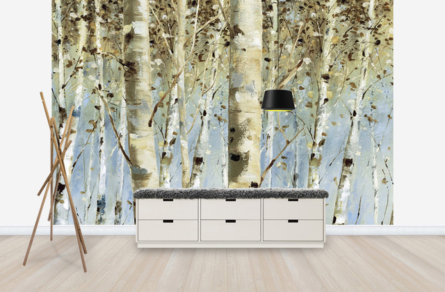 birch and aspen tree decor