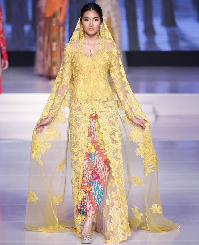 Model Kebaya Pengantin Modern Kuning Cerah
