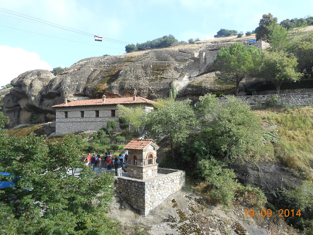 Winch above part of a Meteora Monastery