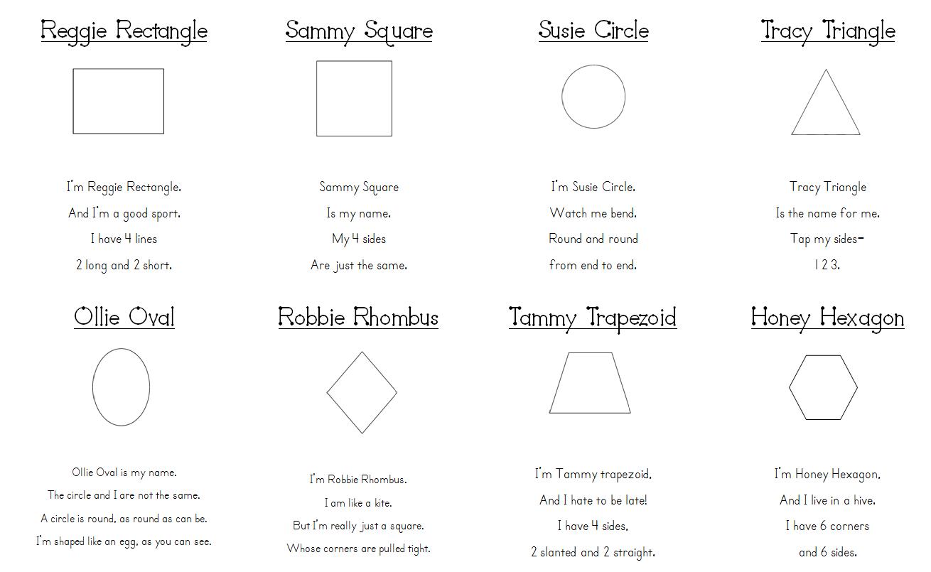 Aloha Kindergarten Shape Poems
