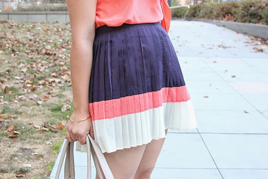 Forever 21 Color Block Skirt