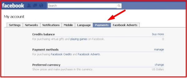 facebook gifts app