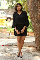 Actress Hebah Patel Stills in Black Mini Dress at Angel Movie Teaser Launch  0039.JPG
