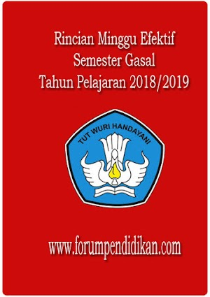Rincian Minggu Efektif Semester Gasal 2018/2019 Sekolah Dasar