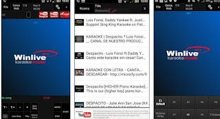 App Winlive Karaoke Mobile