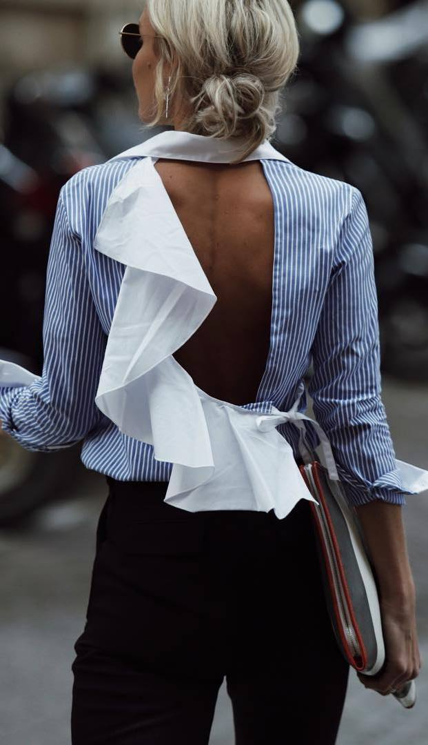 amazing office style: shirt + pants
