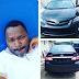 Funke Akindele's ex husband, gives Toyin Aimakhu's ex husband a Corolla Sports car ...photo