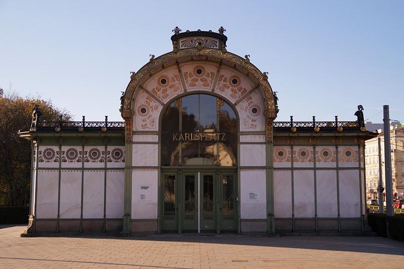 Jugendstil-Pavillon von Architekt Otto Wagner in Wien