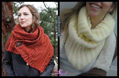 cachecol feminino gola feminina mulher inverno lindo quente fofo elegante trico tricot croche lã barbante cheio vermelho branco moderno chique