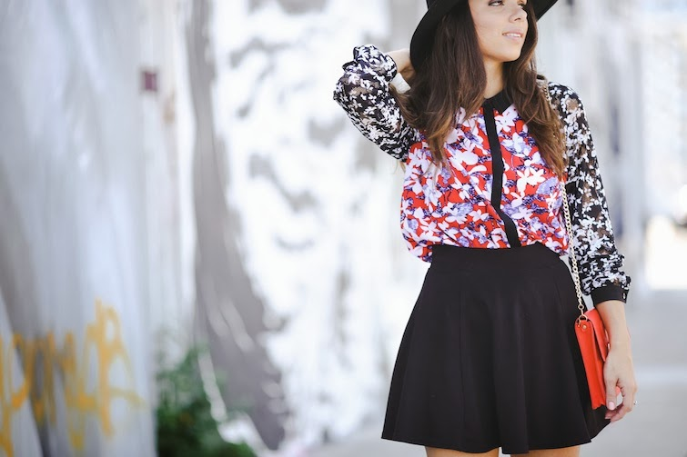 H M skater skirt. OASAP hat. PINK AND PEPPER booties. FUROR MODA red bag 4ac75ea1fa13