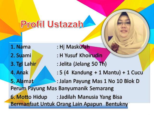 profil ustazah Maskufah