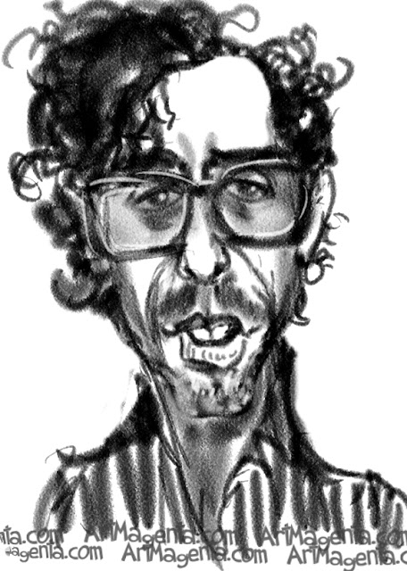 Tim Burton is a caricature by caricaturist Artmagenta