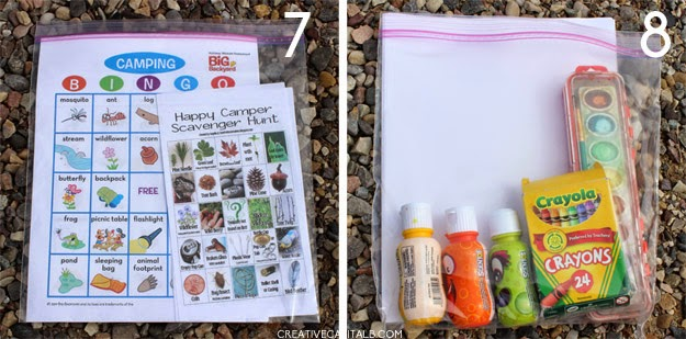 7 Camping Bingo And Scavenger Hunt I Found The Printables HERE Intend To Have Boys Gather Small Rocks Or Whatever Use For Markers