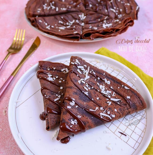 crepes chocolat noix de coco