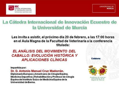 """Conferencia: """"El análisis del movimiento del caballo: evolución histórica y aplicaciones clínicas"""""""