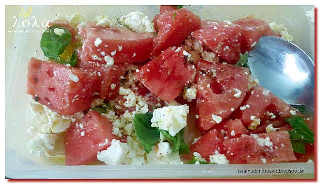 Salata sa lubenicom, Grcka kuhinja