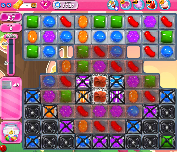 Candy Crush Saga 1727