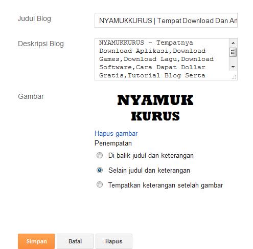 Cara Mengganti Judul Blog Dengan Logo