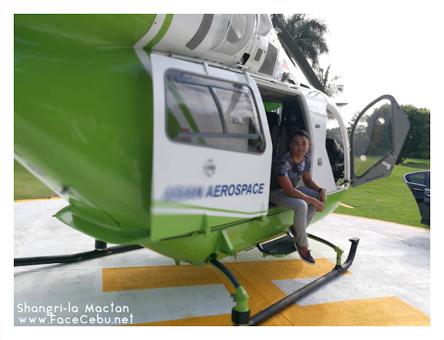 FaceCebu Author, Mark Monta in McDonnell Douglas MD500E