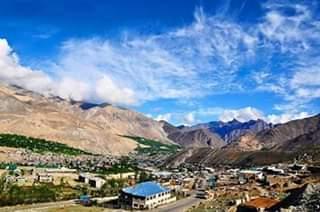 panorama gunung wilayah Kashmir