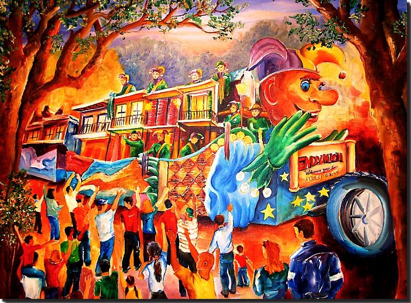 Endymion Float Mardi Gras Painting
