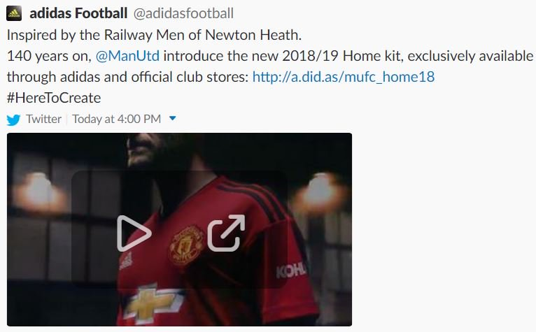 5c6196db9 Manchester United 18-19 Home Kit to Be Launched Tomorrow - Footy ...