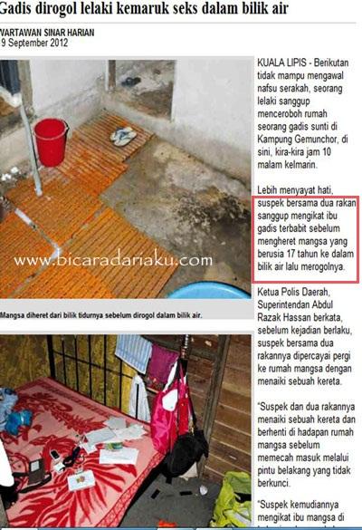 Kuala Lipis Berikutan Tidak Mampu Mengawal Nafsu Serakah Seorang Lelaki Sanggup Menceroboh Rumah Gadis Sunti Di Kampung Gemunchor Sini