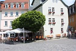 Goethes Der weiße Schwan neben Goethes Wohnhaus