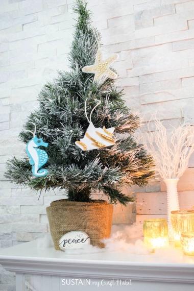 Mini Tree with DIY Sea Life Felt Ornaments