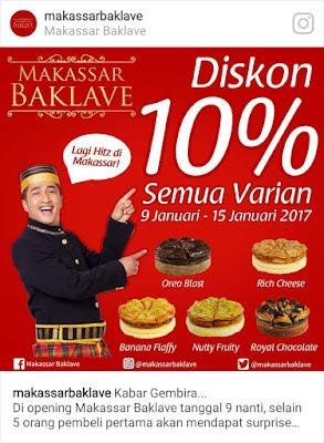 Kunjungan ke Gerai Oleh-Oleh khas Makassar - Makassar Baklave Catatan Evhy