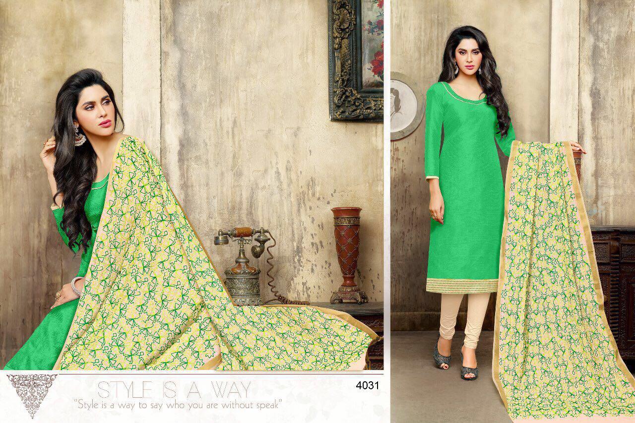 Kaycee Kasmeera-New Arrival Banarasi Silk Dress Material