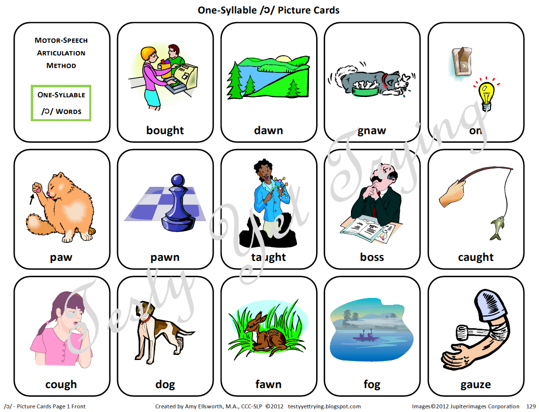Testy Yet Trying Speech Therapy Kit Simple Vowels Card Sets And Resources