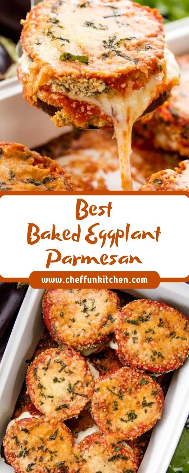 Best Baked Eggplant Parmesan