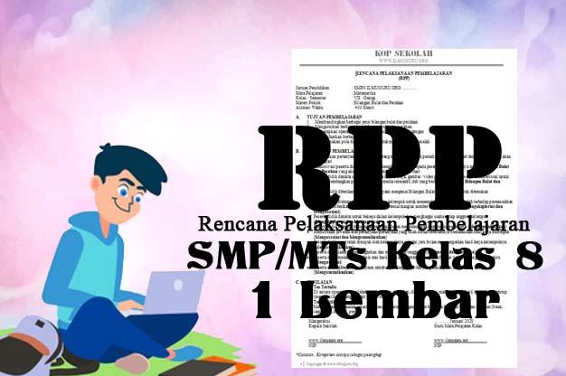 RPP 1 Lembar PKn Kelas 8 Revisi
