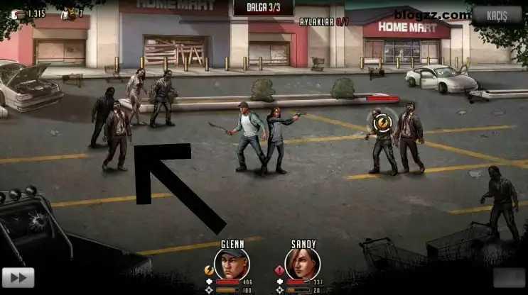 Walking Dead Ölüm Kalım Savaşı oyununda öncelik gerektiren yapıları anında geliştirmelisiniz.