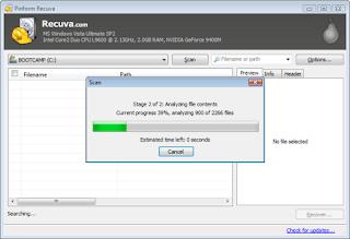 برنامج ريكوفا recuva لاسترجاع الملفات المحذوفه اخر اصدار 2017