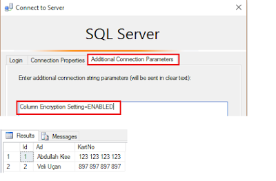SQL Server 2016 Yenilikleri - Always Encrypted - Column Encryption Settings