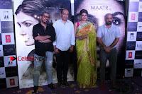 Bollywood Actress Raveena Tandon in Transparent Green Saree at Trailer Launch Of Film Maatr  0031.JPG
