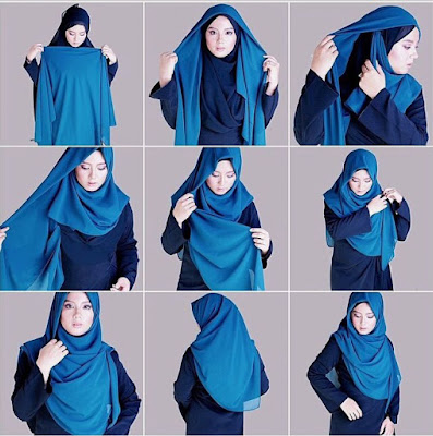 Tutorial Hijab Syar'i Acara Formal