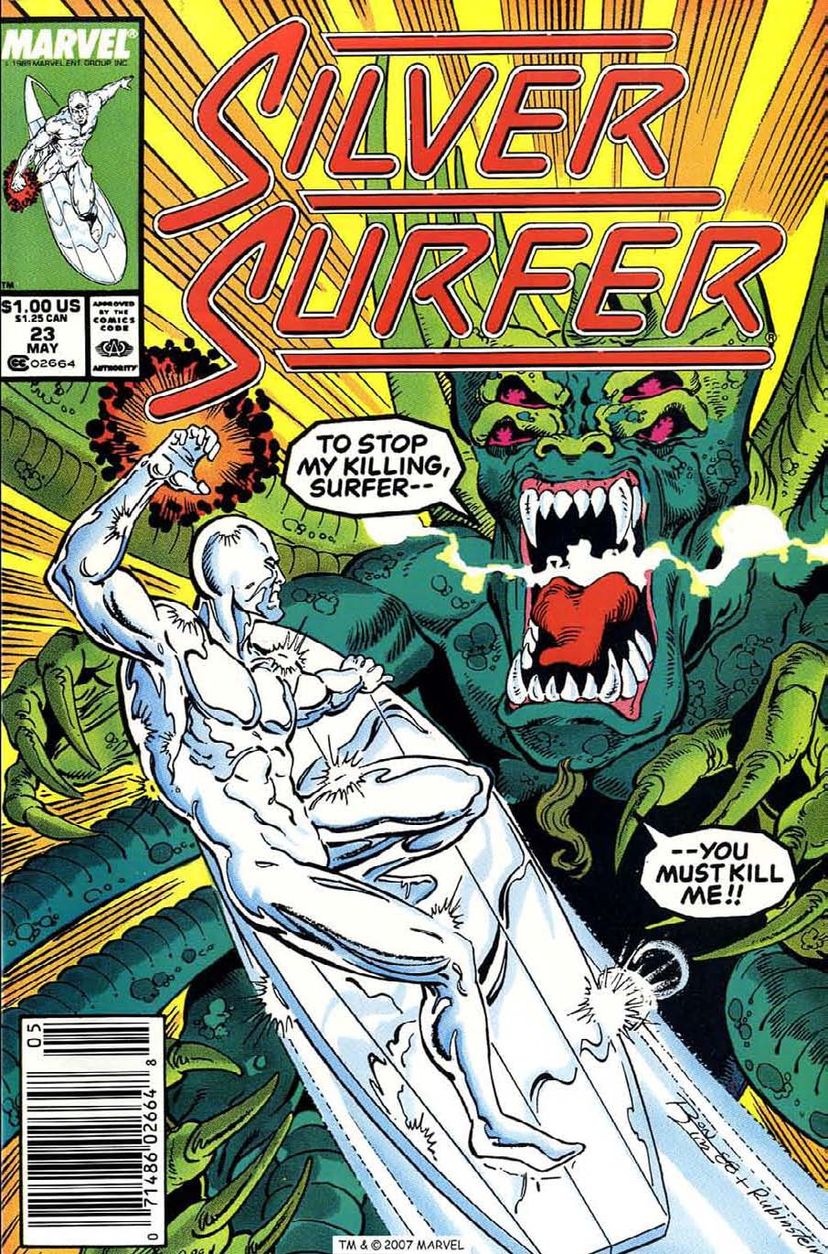 Read online Silver Surfer (1987) comic -  Issue #23 - 1