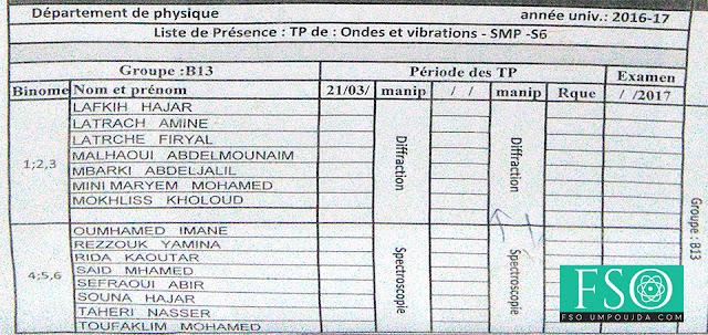 SMP S6 : Groupe B13 TP Ondes et Vibrations