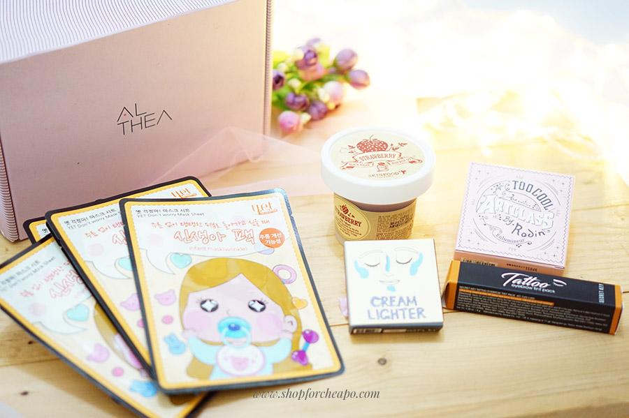 althea 2nd birthday box