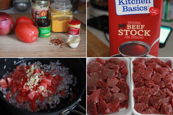 Beef Madras Ingredients