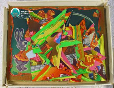 Игра мозаика для детей СССР советская старая из детства. Картинки-сказки З. Граевская, В. Белкина 1989.