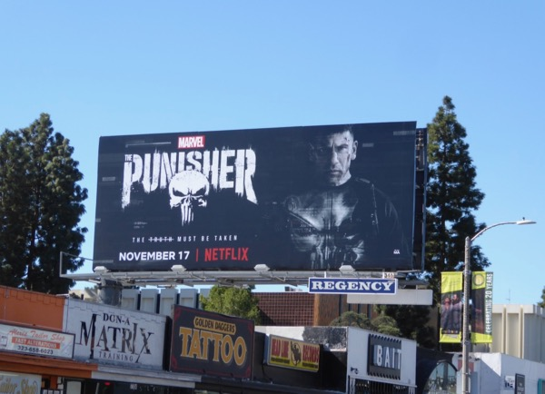 Punisher series premiere billboard