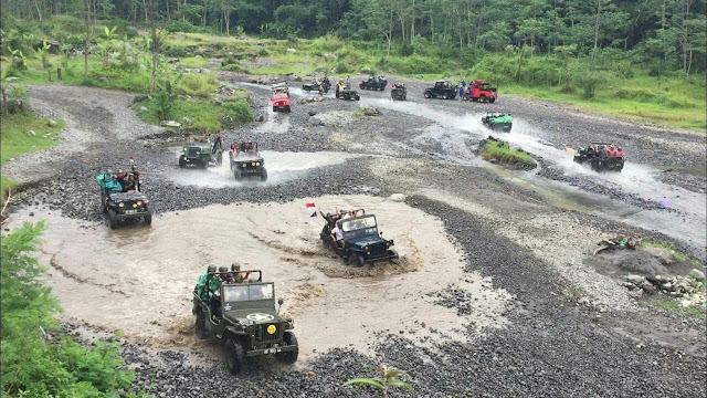 Rute Air paket Wisata Jeep Di Kali Kuning Merapi
