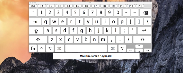 mac On-Screen keyboard